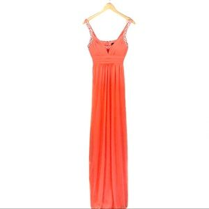 Jodi Kristopher Coral Prom Dress